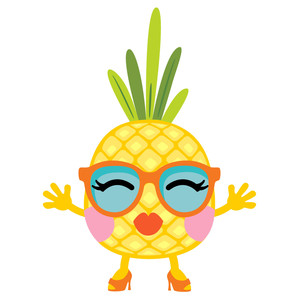 pineapple tart - girl glasses
