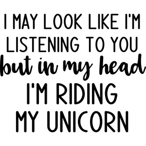 i may look like listening unicorn