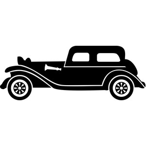 old luxury car silhouette