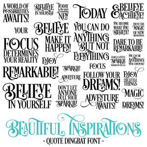 beautiful inspirations font