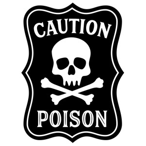 caution poison