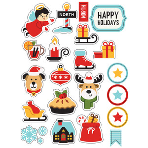 ml cutie christmas stickers