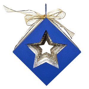 cubed shadow box star christmas ornament