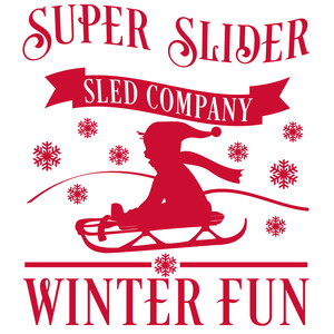 super slider sled co. sign