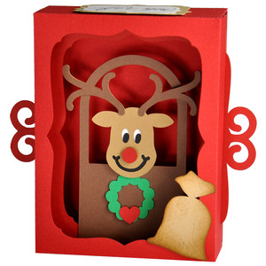 rudolph's lunchtime gift card decoration