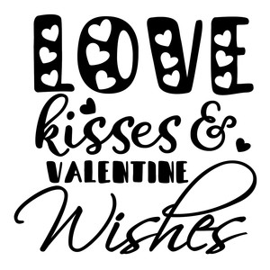 love kisses and valentine wishes