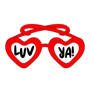 luv ya! heart glasses