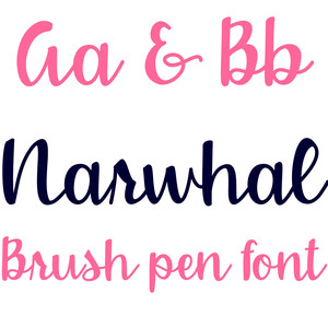 narwhal brush pen font