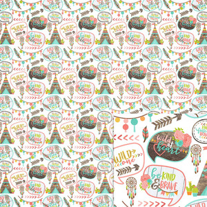 teepee background paper