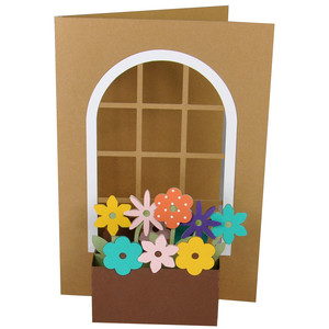 3d flower window box on a card