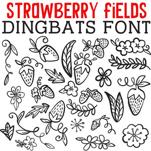 cg strawberry field dingbats