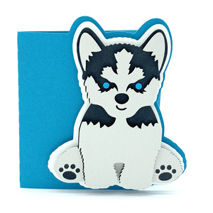 siberian husky dog card