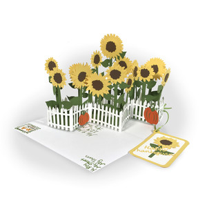 zig zag sunflowers all-occasion card