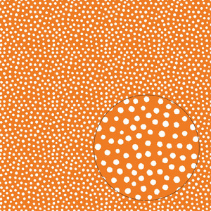 orange & white dots seamless pattern