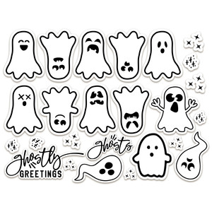 halloween stickers - ghosts