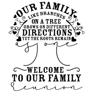 our family like the branches of a tree