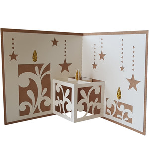 christmas candles pop up card