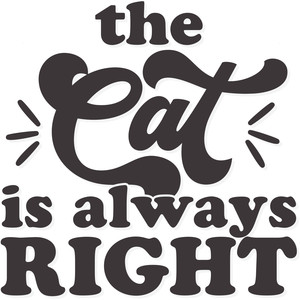 the cat is always right