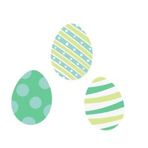 easter egg blue trio