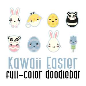 kawaii easter color font