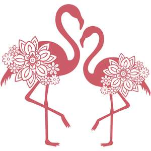 double floral flamingo