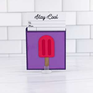 library pocket card popsicle