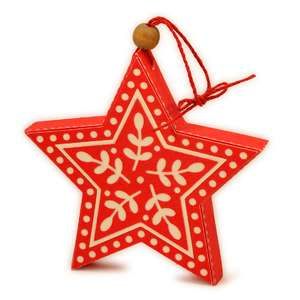 ornament 3d scandi star sprigs