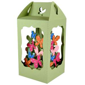 butterfly filled lantern