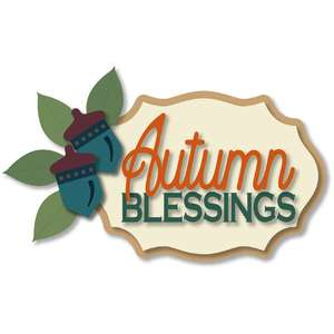 autumn blessings leaf acorn plaque