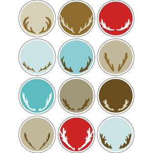 ml antler tags stickers
