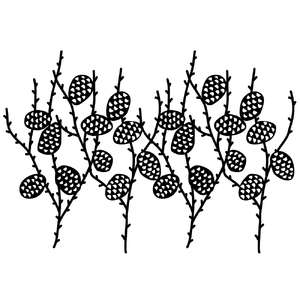 pine cone branch repeating border