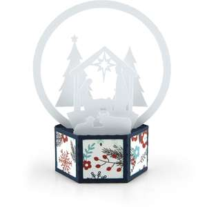 3d snow globe card nativity
