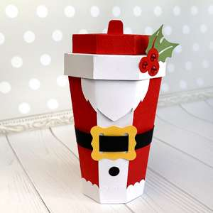 santa coffee cup box