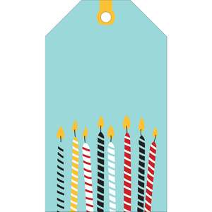 birthday candle tag