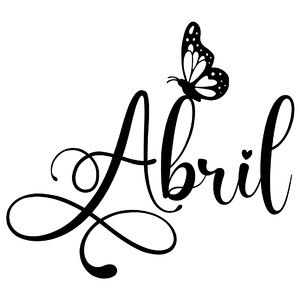 abril butterfly word