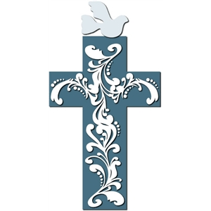 flourish cross and dove