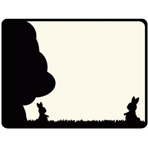 easter bunny silhouette journaling card