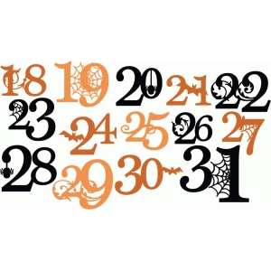 halloween numbers of the month