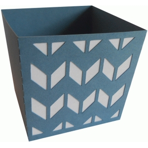 thick chevron candy box