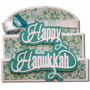 happy hanukkah tri-fold card