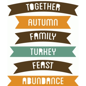 banner words - thanksgiving family