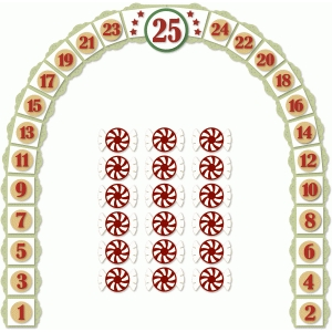 christmas countdown arch pathway