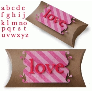 lowercase alphabet pillow box