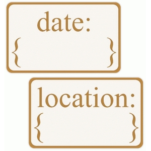 date and location tags