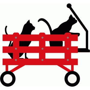 cats in wagon