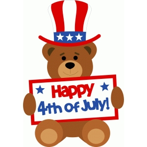 bear happy 4th july