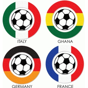 3 stripe flags soccer
