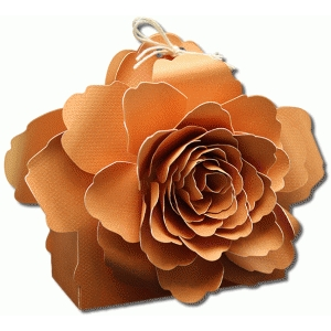 3d piscali tea rose flower treat box