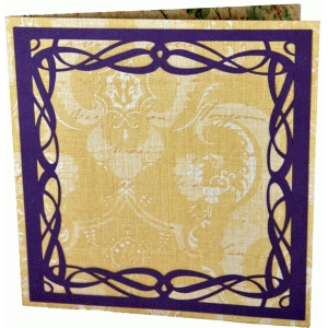 calligraphic flourish frame card