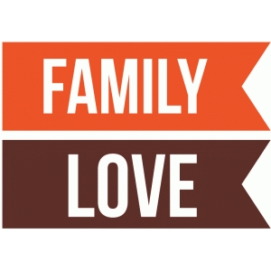 family and love banners
